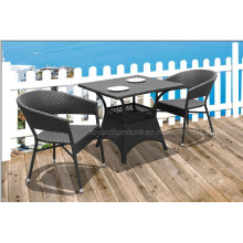 Outdoor Hotel Cafe Wicker Rattan Table and Chair (D531; S310)