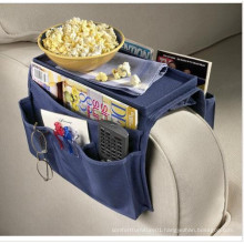 6 Pocket Sofa side Arm Rest Organizer with Table-Top