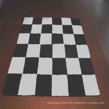 Area rug carpet rug black and white carpet