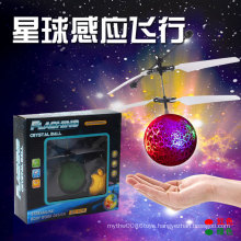 Flying Flash Ball Stripe Celestial Body Novel Electric Inductive Toy