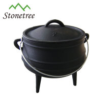 South Africa 3 legs Potjie Pot, cast iron cooking pot, cast iron cauldron for outdoor and camping