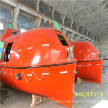 Marine totally enclosed lifeboat with safety belt