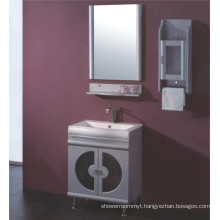 Glass PVC Bathroom Cabinet Furniture (B-515)