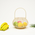 Modern Household Kitchen Storage Metal Wire Fruit Basket Kitchen Fruit And Vegetable Metal Basket