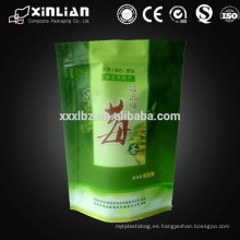 Bolsa de cierre con cremallera flexible para envases de té
