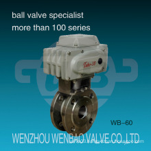 Electric Actuated Wafer Type Stainless Steel Compact Ball Valve