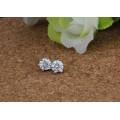 Pendiente de plata cristalino minúsculo del perno prisionero de la plata esterlina 925