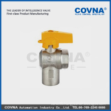 CE Brass nickel plated butterfly handle gas valve