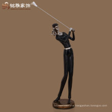 office table decorative qualified bronze color golfer figurines