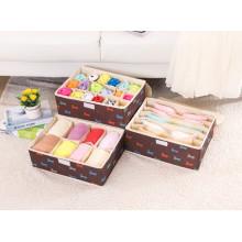 Brown Nylon-Oxford Aufbewahrungstasche Socken / BH Aufbewahrungsbox