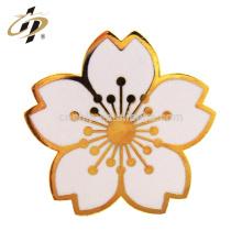En gros personnalisé métal fleur artificielle sakura joyeux pavot souvenir épinglette insigne