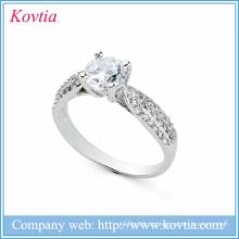 Novos produtos 2016 925 prata esterlina jóias anéis de cristal de diamante