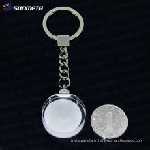 Porte-clés en cristal à sublimation Sunmeta en gros --- fabricant