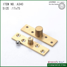 Brass central axis glass shower door pivot hinge