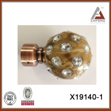New design hot sell home decoration curtain rod finials