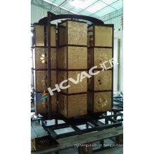 A parede telha a máquina de revestimento dourada de PVD / máquina de revestimento cerâmica do vácuo do ouro dos copos
