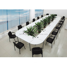 Melamine Modern Detachable Modular Conference Table in White (FOHFN-01)