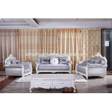 New Classic Italian luxury living room chesterfield white leather sofa KW9113
