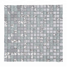 Diamond Square Antique Mirror Crystal Glass Mosaic Tiles for Kitchen Wall
