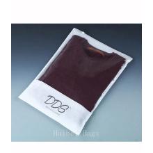 Sac de conditionnement transparent non vêtu de CPP, sac d'emballage en fermeture à glissière