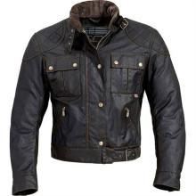 Veste de vêtements de moto enduite de cire pour hommes
