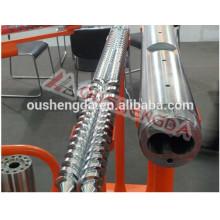 Barril de doble tornillo paralelo de acero aleado Sumitomo para tubería de PVC