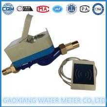 Latão Card IC Prepaid Medidores de água com motor Válvula Dn15-Dn25