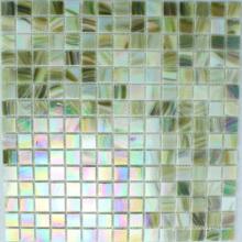 Mosaico verde del vidrio del iridio