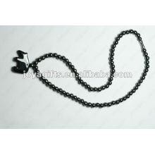 Магнитное ожерелье из бисера с гематитом
