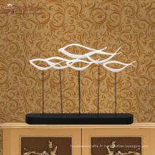 Nouveaux produits décoration intérieure décoration abstraite résine sculpture sur poisson