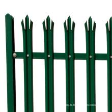 clôture de palissade européenne en acier de décoration de jardin