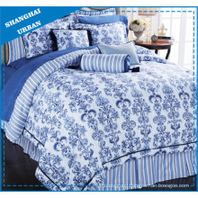 Chinese Patterns Printed Polyester Duvet Cover Bedding Set