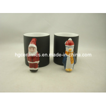 Santa Claus Handle Mug, Color Change Mug