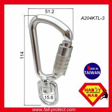 A204KTL-3 Werkzeug Tether Swivel Aluminium 8kN Sicherheits-Haken Karabiner