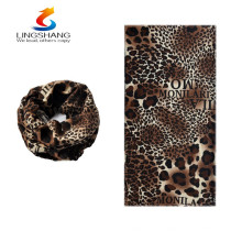 hot new products for 2016 lingshang cashmere outdoor sport leopard printed custom printing cheap wholesale bandanas