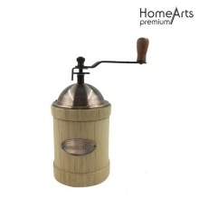 Wood body manual ceramic burr coffee grinder