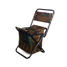 Cadeira de acampamento de dobramento durável da praia do encosto do elevado desempenho durável cadeira de jardim portátil com saco mais fresco