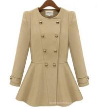 Горячая мода женщин осень и зима с длинным рукавом куртки