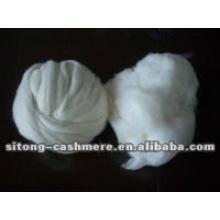 Tapas de fibra de cachemir depiladas en blanco puro