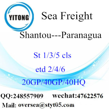 Shantou Port Sea Freight Shipping ke Paranagua