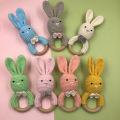 DIY Crochet Rabbit Toys Baby Teether Knitting Rabbit Plush Toy Baby Comfort Supply