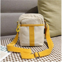 Wholesale factory price trend leisure solid color girl cotton canvas cross body bag