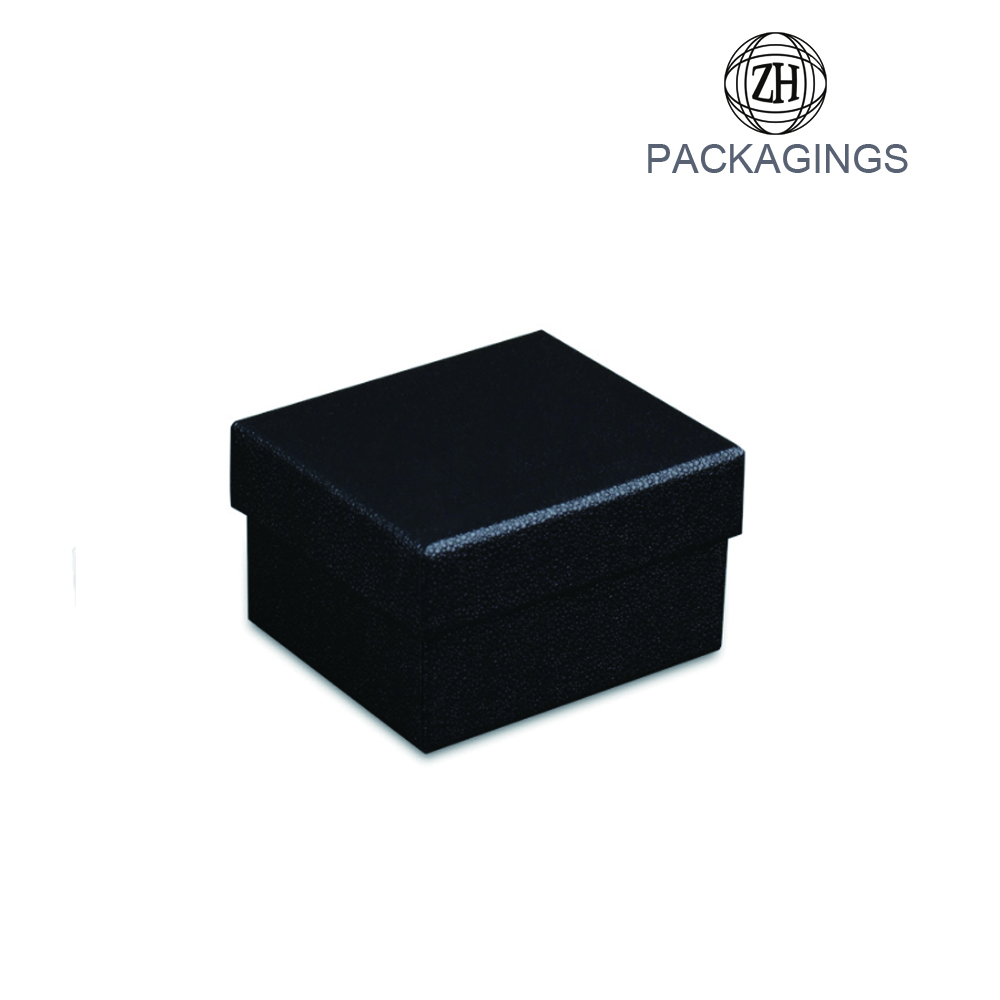 Custom luxury paper watch box black