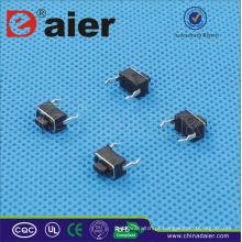 Daier KFC-003C 3 * 6 * 5 Botão Preto SMD 2 pinos Interruptor Tátil
