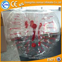 Boule de bulle d'air tpu de football à bulle de blocs de style nouveau, boule de hamster humain gonflable à vendre