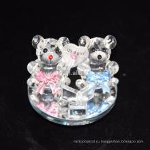 Дешевые пользовательские прекрасный кристалл плюшевый мишка