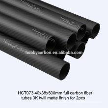Tubo de fibra de carbono quadrada oval de alta qualidade / tubo de tubo