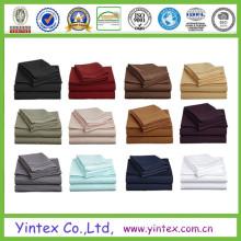 Conjunto de lençóis de algodão suave como algodão egípcio