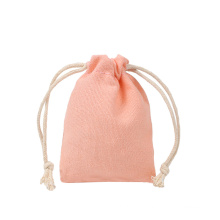 Customised Soft Washing Durable Organic Tote Draw String Bag Small Foldable Canvas Cloth Drawstring Bag