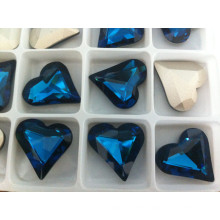 New Heart Fancy Crystal Stones Glass Beads for Crystal Jewelry